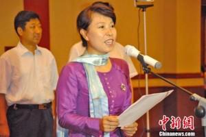 陕西省副省长王莉霞出席开营仪式并致辞 中新社刘尼威 摄